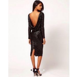ASOS Drop Back Sequin Dress. BNWT.